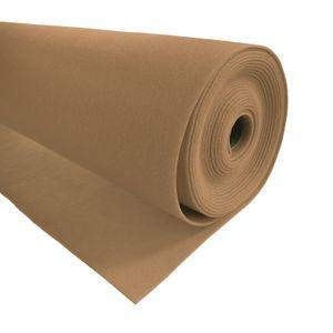 Bastelfilz 1m Meterware Filz 90cm x 1,5mm Dekofilz Taschenfilz Filzstoff 39 Farben, Farbe:beige