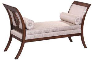 Casa Padrino Luxus Art Deco Sitzbank Silber / Dunkelbraun - Handgefertigte Massivholz Bank - Art Deco Wohnzimmer Möbel