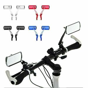 1 Paar Fahrradspiegel Aluminium Fahrrad Spiegel Rückspiegel Lenkerspiegel Lenker Reflektor einstellbar Schwarz für Fahrrad Motorrad E-Bike