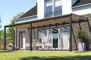 REXOdeluxe Alu Terrassenüberdachung 4m x 2m