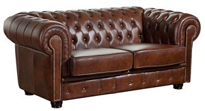 Max Winzer Norwin Sofa 2-Sitzer - Farbe: braun - Maße: 174 cm x 98 cm x 74 cm; 2909-2100-9342001-F07