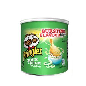 Pringles Sour Cream und Onion mit Sauerrahm und Zwiebelgeschmack 40g