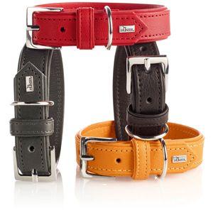 Hunter Halsband Wallgau Leder versch. Größen und Farben, Größe:50, Farbe:taupe
