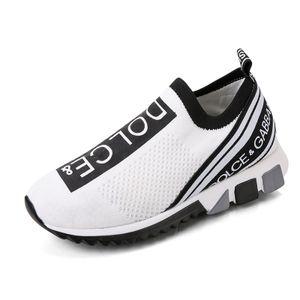 Sportschuhe aus gestricktem Stoff Atmungsaktive Outdoor-Laufschuhe,Farbe: Weiß,Größe:43
