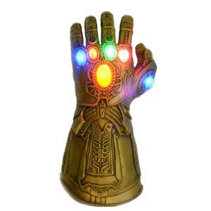 Erwachsene Thanos Infinity Handschuh Infinity Krieg mit LED Licht Gummi Latex