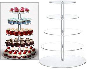 5 Etagere Tortenständer Cupcake Hochzeitstorte Ständer Hochzeit Party Muffinständer Kuchenständer Kuchen Gestell für Geburtstag Feier