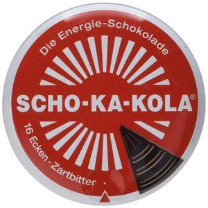 SCHO KA KOLA die Dose mit 16 Ecken Zartbitterschokolade 100g