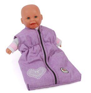 Puppen-Schlafsack, melange flieder