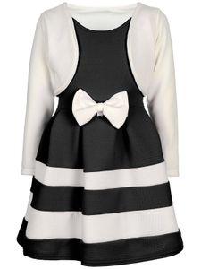 BEZLIT Festliches Mädchen Kleid mit Bolero Weiß-Schwarz 116