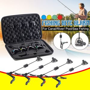 Fishing Swingers Fishing Indicator 4-Farben-LED-Leuchtanzeige Fishing Bite Alarm Hanger Swinger
