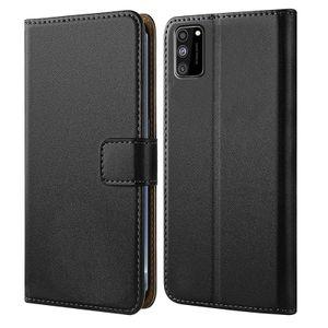 Handytasche für Samsung Galaxy A02s Schutzhülle mit Standfunktion Handyhülle Klapp Tasche Etui mit Kartenfächer Flip Cover