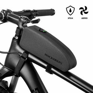 ROCKBROS Fahrrad Rahmentasche wasserdichte Oberrohrtasche IPX4 Fahrradtasche Große Kapazität für MTB, Rennrad 23.5 * 6.5 * 10.5cm