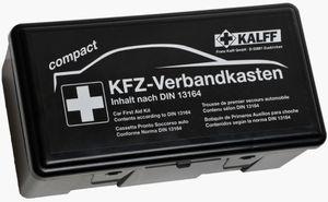 """KALFF KFZ Verbandkasten """"Kompakt"""" Inhalt DIN 13164 schwarz aus Kunststoff"""