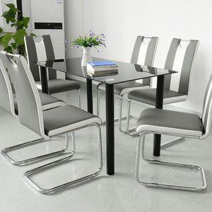 WYCTIN 2x Esszimmerstühle Freischwinger Stühle Schwingstuhl Esszimmerstuhl Hochlehner