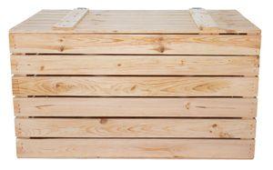 1x einfache HOLZTRUHE mit Deckel / NEU / 85x55x46 cm / für Gartengeräte