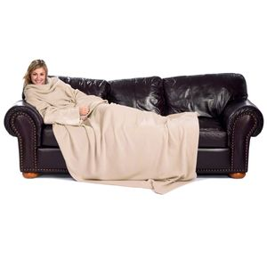 Ärmeldecke Lounge-Decke Kuscheldecke mit Ärmeln in XXL - BEIGE