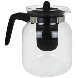 Teekanne Glas mit Sieb 1,5 Liter Kaffeekanne Glaskanne Teebereiter Kaffeebereiter Glasteekanne Tee Kanne