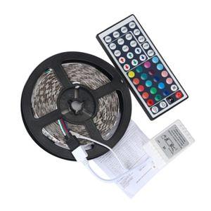 AA06 5M RGB LED-Lichtleisten Lichterketten mit Fernbedienung 44 Tasten