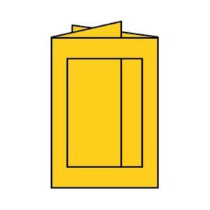 Rössler Papier - - Paperado-5er Pack PP-Karten eckig Ft.B6, Ocker - Liefermenge: 10 Stück
