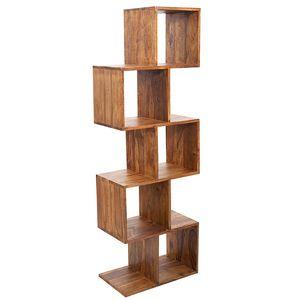Massives Cube Regal MAKASSAR Sheesham 150cm Cubic Wandregal Massivholz Holzregal