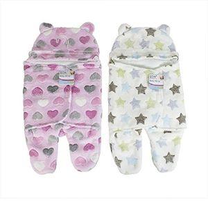 FIRST STEPS Baby  Schlafsack Pucksack Einschlagdecke Fuß Kapuze Mädchen rosa 0-6 Monate NEU