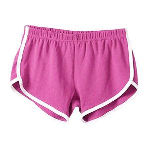 Damen Shorts Sporthose Hotpants Kurz Hose Schlafhose Jogginghose Stoffhose Rosenrot wie beschrieben