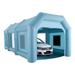 Crenex  8X3X3,3M Aufblasbare Sprühkabine Zelt Aufblasbare Lackierkabine Zelt Spritzkabine Großes Autozelt Partyzelt Campingzelt Luftzelt mit 2 elektrische Gebläse Zelt für auto