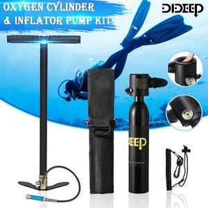 DIDEEP SCUBA Tauchflaschen Sauerstoffflasche Unterwasseratemgerät + Handpumpe