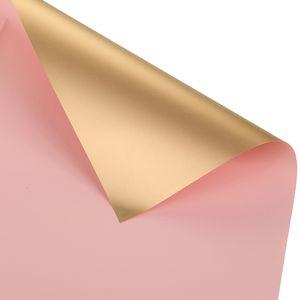 20 stuecke Wasserdichte Blumen Geschenkpapier Zwei-Ton Gold Duplex Origami Papier Verpackungspapier Geschenkpapier Florist Blumenstrauss Blumendekor