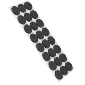 24 Stück Filzgleiter Möbelgleiter Selbstklebend 30x30mm Rund - Grau - Stuhlgleiter