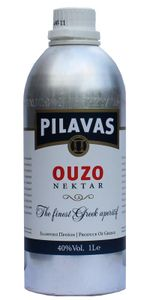 Ouzo Nektar Pilavas in Aluflasche 40% 1,0l