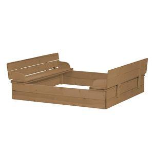Sandkasten, aufklappbare Sitzbank