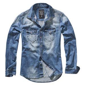 Brandit - Riley Denimshirt 4020 62/Denim Blue Größe XL