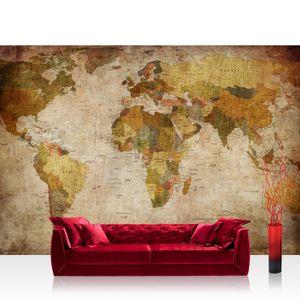 Vlies Fototapete no. 0029 - 400X280 cm - Vintage Atlas Welt Tapete Weltkarte Antik Atlaskarte Atlanten Karte alte Karte alter Atlas braun liwwing (R)