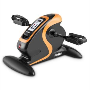 Klarfit Cycloony Minifahrrad für Beine und Arme - Mini-Bike, Pedaltrainer, Muskelaufbau, Heimtrainer, 70W, 12 Geschwindigkeitsstufen, Trainingscomputer, Vor- / Rückwärtslauf, orange / schwarz