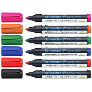 Whiteboard- und Flipchart-Marker Schneider Maxx 290, nachfüllbar, 2-4 mm, Etui mit 6 Farben