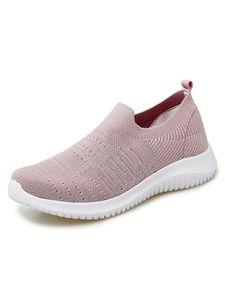 Damen Leichte und atmungsaktive weiße Sohle Freizeitschuhe mit weicher Sohle,Farbe: Pink,Größe:39