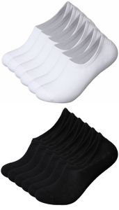 10 Paar unsichtbare Sneakersocken Füßlinge mit Silikon-Streifen Mix Schwarz/Weiß Größe 39-42
