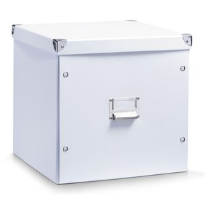 Zeller Aufbewahrungsbox, Pappe, weiß 33,5x33x32