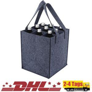 Bottlebag   9 extra große Fächer für 1,5L Flaschen   28x28x28cm   Flaschentasche/Flaschenträger   mit verstärktem Griff   einfach zu verstauen   in schwarz