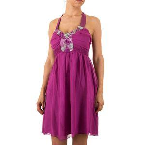 Ital-Design Damen Kleider Cocktail- & Partykleider Lila Gr.36