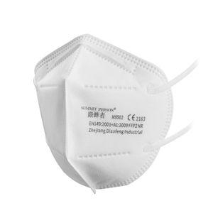 100 x FFP2 / Atemschutzmaske  Maske Mundschutzmaske Filtermaske Gesichtsmaske Wiederverwendbar Respirator Maske mit Schichten Filter Bakterien Anti Pm2.5 Lungenentzündung Influenza Grippe Maske gegen Staub Anti Verschmutzungsmaske Maske