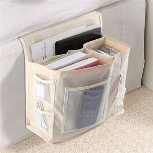 Sofa Armlehne Organizer Betttaschen Bett Organizer Platzsparender für Couch oder Sessel Bett Storage Tasche Beige