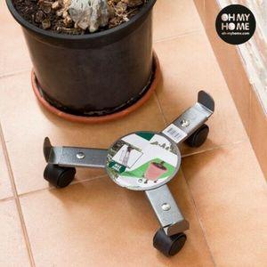 GKA Pflanzenroller ausziehbar Blumentopf Blumenroller Untersetzer aus Metall mit Rollen bis 50 kg