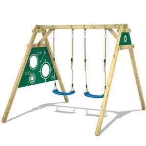 WICKEY Kinderschaukel Schaukelgestell Smart Score Schaukel, Schaukelgerüst, Doppelschaukel, Holzschaukel