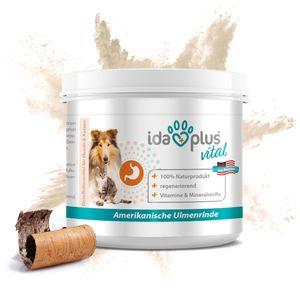 Ida Plus - amerikanische Ulmenrinde 50 g -  Slippery Elm Bark Pulver für Hunde & Katzen - Naturprodukt - Unterstützt Magen-Darm-Trakt & eine ausgewogene Darmflora - mit Vitaminen & Mineralstoffen