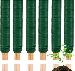 6er Bindedraht Set - Wickeldraht grün - Blumenwickeldraht & Basteldraht & Floristendraht & Bluemndraht für Rosen, Blumen & Basteln