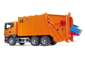 Bruder Scania R-Serie Müll-LKW (orange), 1 Stück