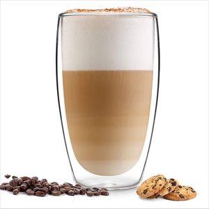 Thermogläser 1 Stück Kaffeegläser Teeglas Kaffeeglas Doppelwandiges Doppelwandige Gläser Thermoglas für Kaffee Latte Cappuccino Tee 450 ml