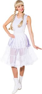 Petticoat midi weiß, Größe:40/42
